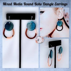 🆕Boho Round Minimalist Mix-media Dangle Earrings